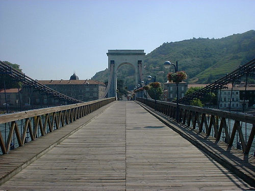 Broen mellem Tain og Tournon, nordlig rhône
