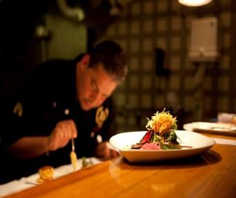 James Canora fra Continental Airlines bød på Middag på The Marriotts Midtown Grill