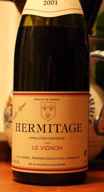 Hermitage 2001 fra Jean Michel Sorrel, bro'r til Marc Sorrel.
